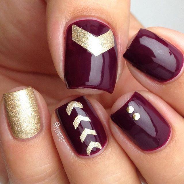 maroon nails ideas