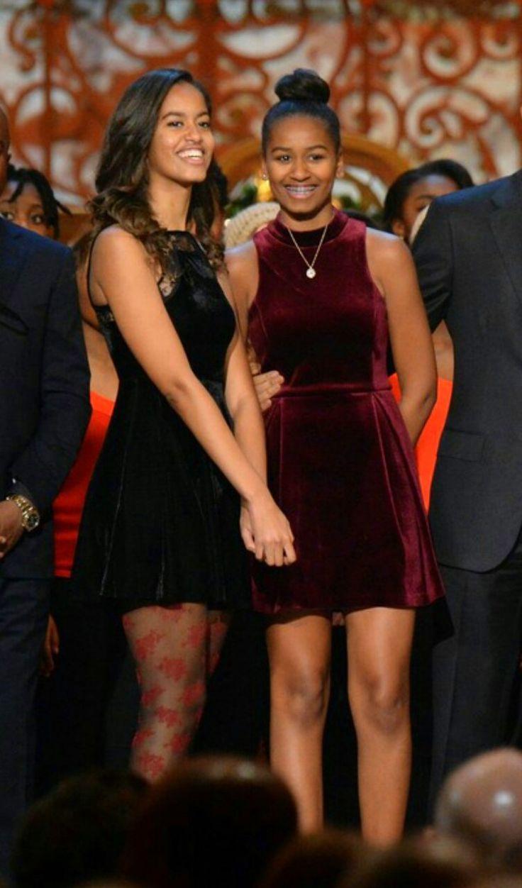 First Daughters Malia and Sasha Obama