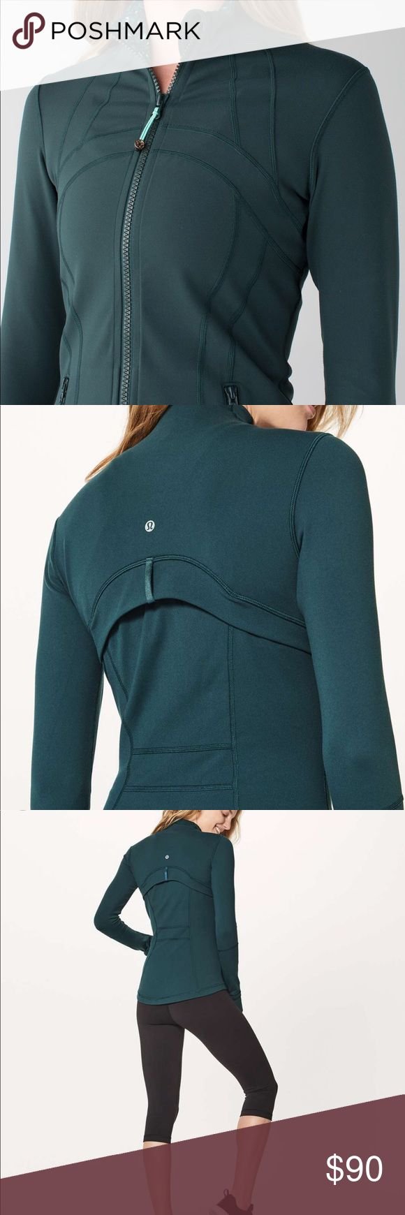"""Very rare Lululemon """"submarine"""" Define jacket 💚 Rare Lululemon """"submarine"""" deep emerald green define jacket size 10! Perfect condition minus tag inside as seen in photo (just wrinkled) just doesn't fit, my loss is your gain :) lululemon athletica Jackets & Coats"""