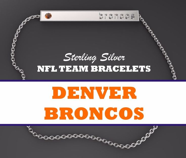 Womens NFL Jewelry Denver Broncos 925 Sterling Silver Bar Bracelet w/ Orange CZ #BarBracelet #DenverBroncos #arizonacardinals #cardinals #arizona #atlantafalcons #falcons #atlanta #atl #baltimoreravens #ravens #baltimore #buffalobills #bills #buffalo #miamidolphins #dolphins #miami #minnesotavikings #vikings #minnesota #newenglandpatriots #patriots #newengland #neworleanssaints #saints #neworleans #carolinapanthers #panthers #carolina #chicagobears #bears #dabears #chicago