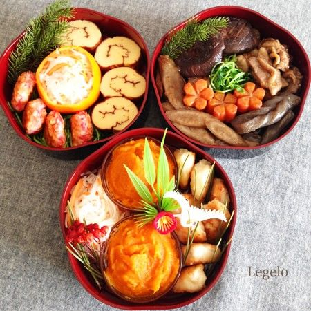 New Year's japanese cuisine. New Year dishes.