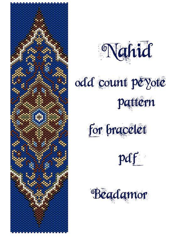 Peyote Pattern for bracelet: Nahid- INSTANT DOWNLOAD pdf