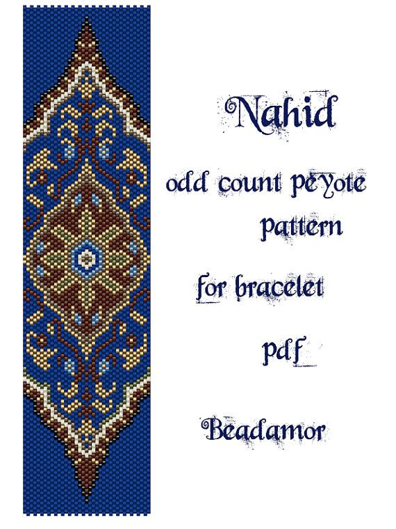 Peyote Pattern for bracelet: Nahid INSTANT DOWNLOAD di Beadamor