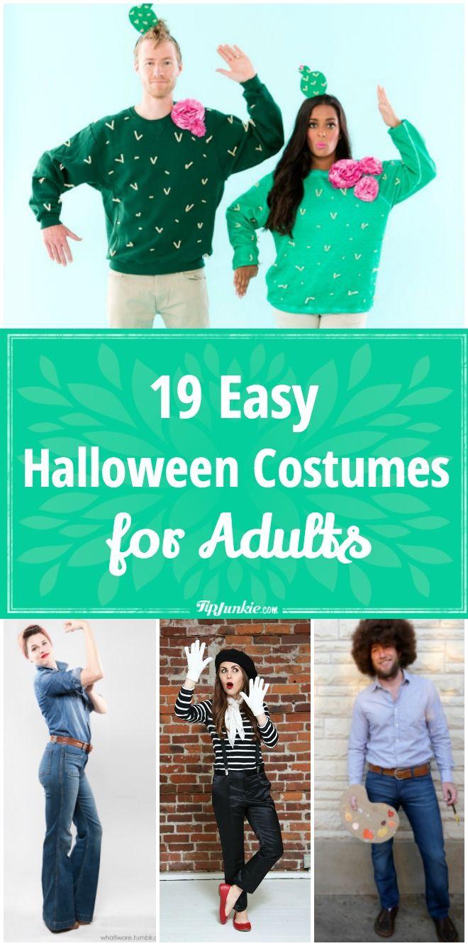 19 Easy Adult Halloween Costumes Men, Women  Halloween -4745