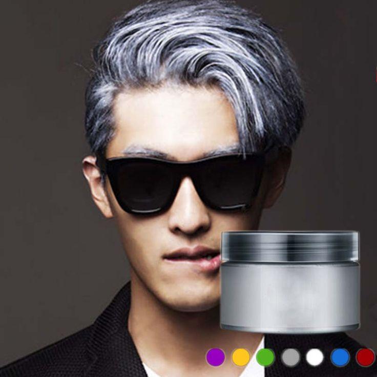 100/120 ml Boya Saç Çamur Yeni Moda Gri Saç Boyası Renk Krem Tebeşir Seti Makyaj Geçici Saç Rengi DIY Kiti M02298