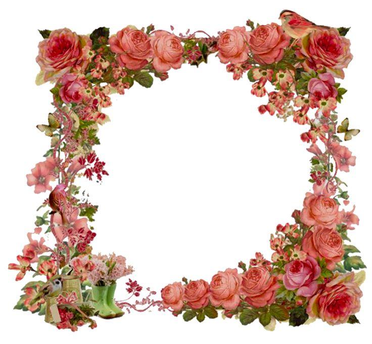 Vintage Flower Border Clip Art | www.pixshark.com - Images ...