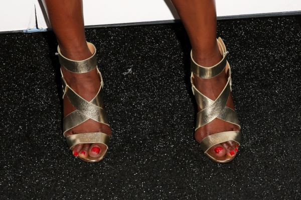 Naomi Campbell's shoes at New York Fashion Week