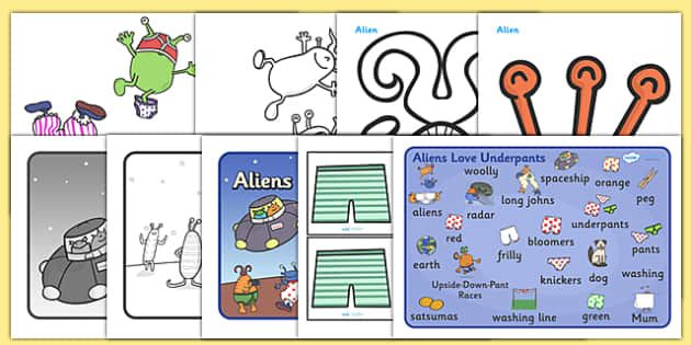 aliens love underpants writing paper Those silly aliens love underpants in all sizes and colors-large or small, red or green-and they like them in every kind of fabric they think that mom's pink, frilly panties are a perfect place to hide.