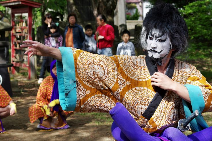 06 Akita Hachirogata town Gannin Dance Japan 2015 2015年5月5日 八郎潟町 一日市神社 大人願人踊り