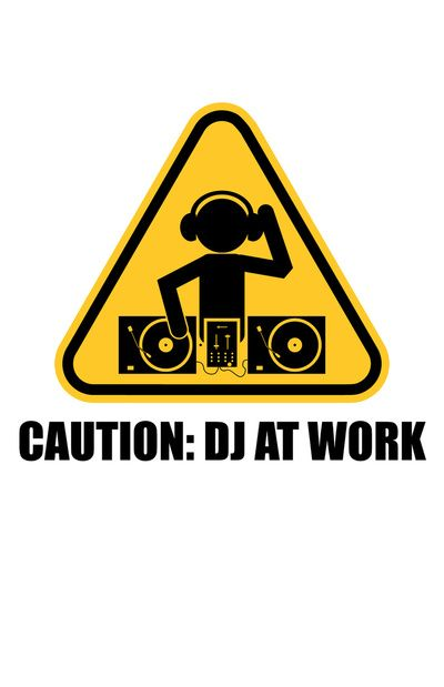 I want to hang this in front of my door. DJ At Work Art Print