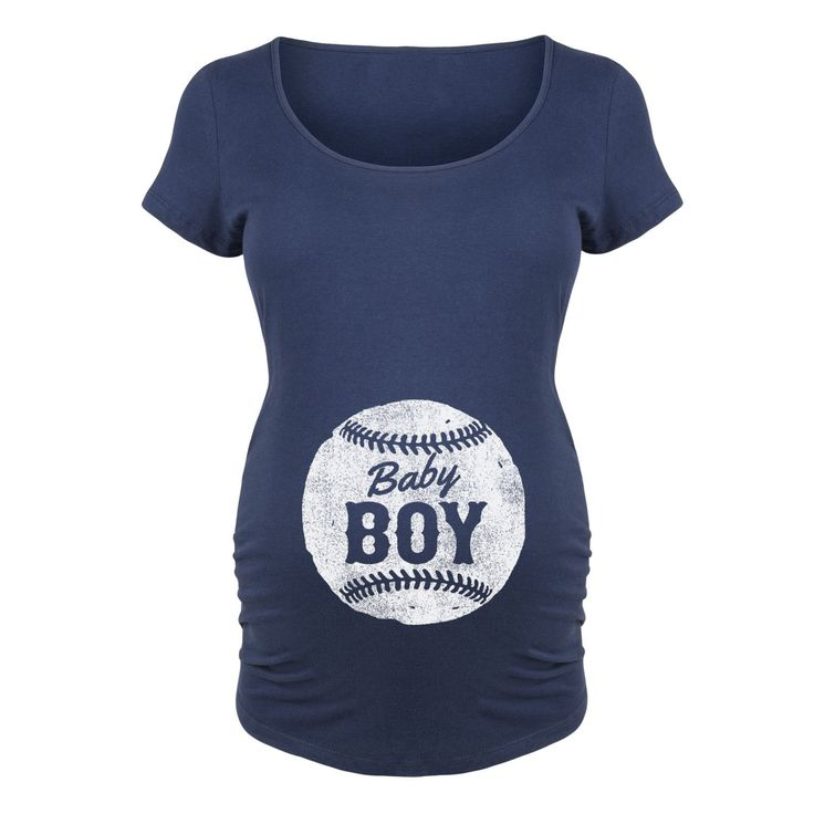 Play ball! This adorable cotton-blend maternity tee is the perfect choice for any baseball loving Mom-to-be. Super soft cotton material ensures lasting comfort while this tee's crazy cute baseball gra
