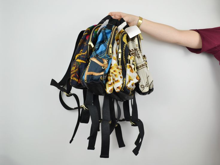 A right 'ol bunch! Stocking Beyond Retro scarf print backpacks now!