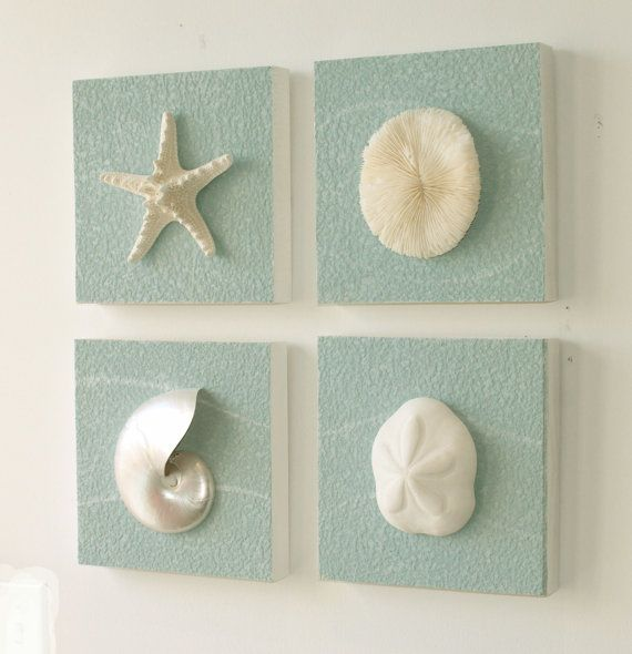 beach decor on driftwood panel for coastal wall by beachartdesigns 2900 - Coastal Wall Decor