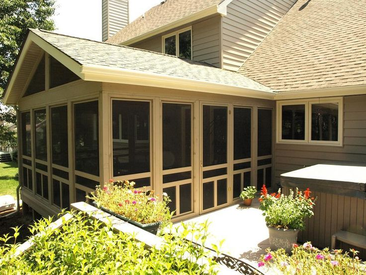 Screened In Decks | Screen Porch, Urbandale, Outside View - Screened Porches Photo Gallery ...