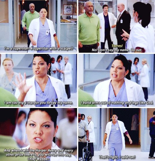 "…and the Chief. | 23 Times Callie Torres Was The Best Part Of ""Grey's Anatomy"""