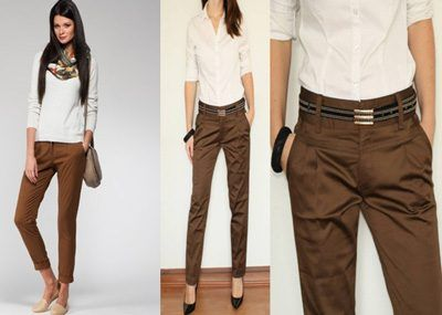 Кремовые брюки женские с чем носить 195