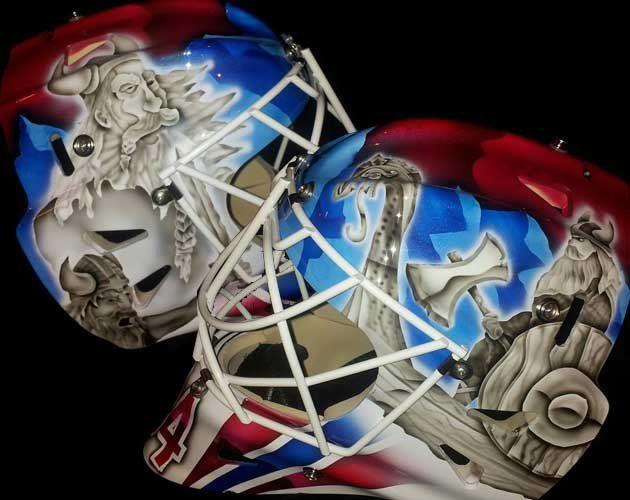 Lars Volden's Viking mask