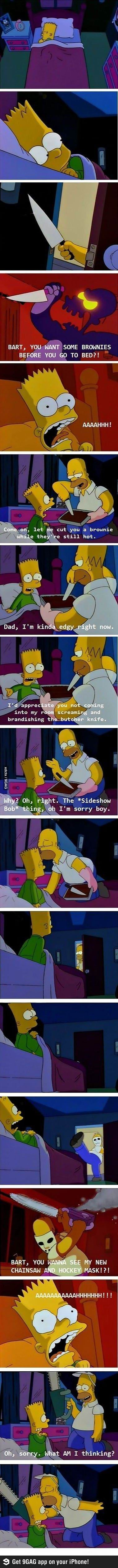 Hahaha! This is hilarious! Poor Bart.