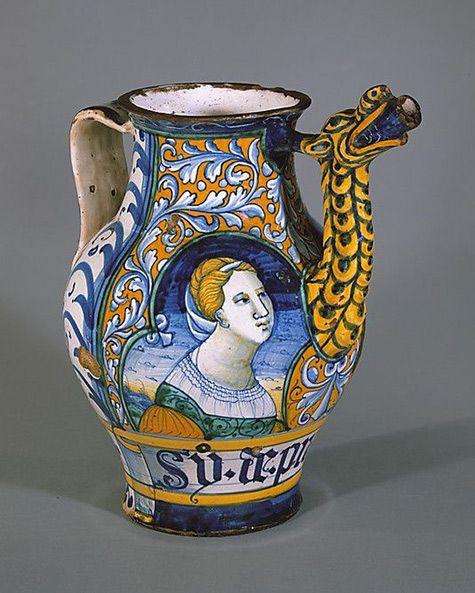 Apothecary jar (orciuolo) 1520. majolica-jar-475x593