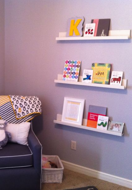 Nicole Erenz This Is What I Was Talking About DIY Floating - Baby bookshelves