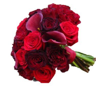 red wedding flowers  myfloweraffair.com