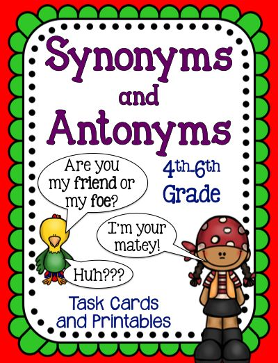 common synonyms and antonyms pdf