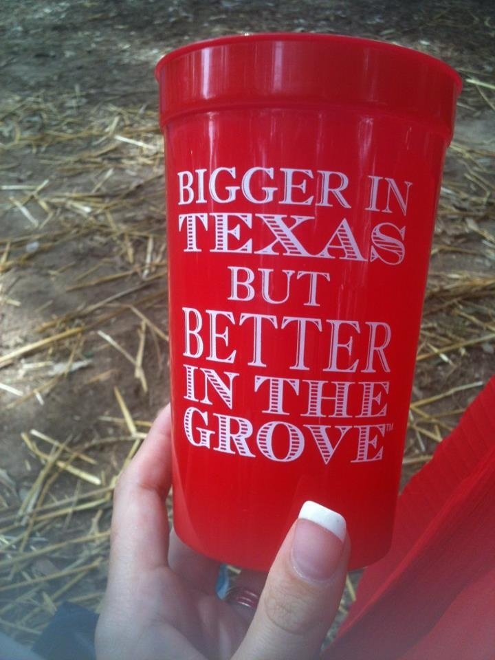Our special Ole Miss cups for the Texas game. Hotty Toddy!
