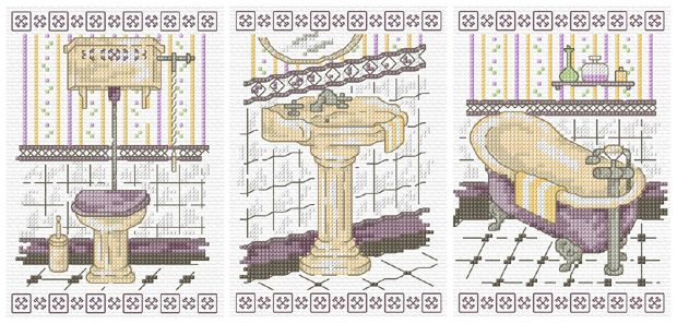 Free Bathroom Cross Stitch Patterns