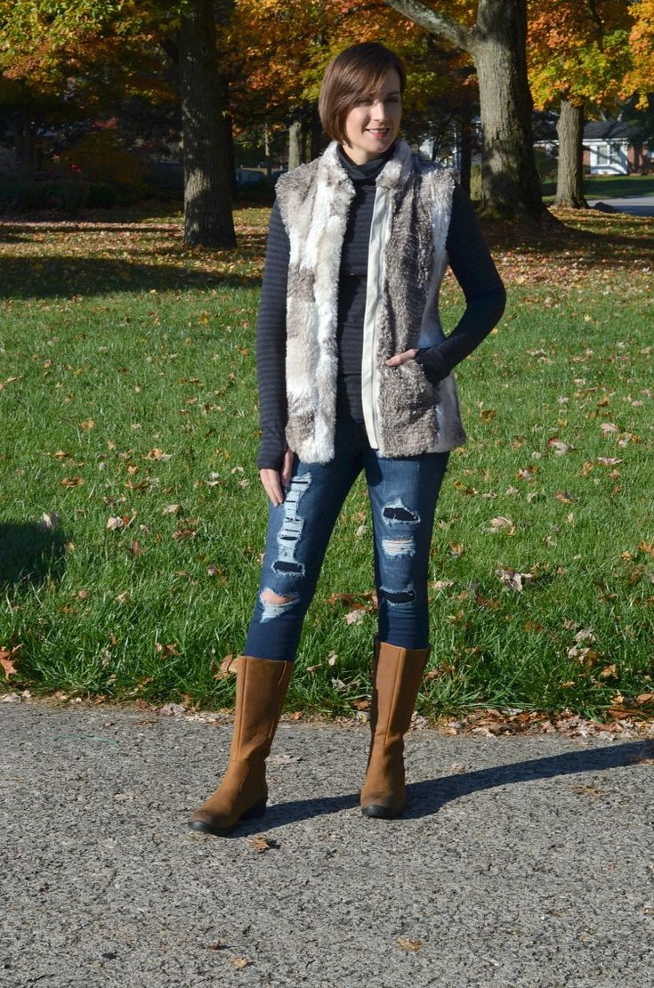 Cabi Styles for the Holiday Season - aspen vest and odyssey turtleneck
