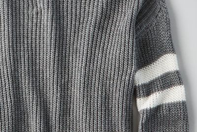 AEO Double-Striped Varsity Sweater by  American Eagle Outfitters | Nothin' but knit. Make it yours.Nothin' but knit. Make it yours. Shop the AEO Double-Striped Varsity Sweater and check out more at AE.com.