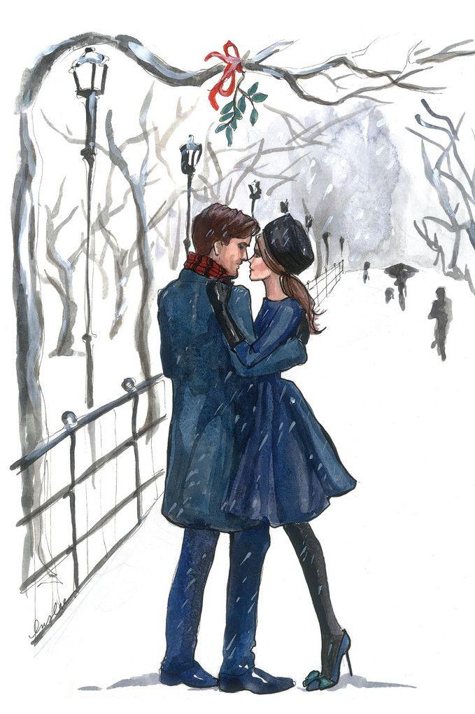 Inslee Haynes. Romántico paseo en la nieve