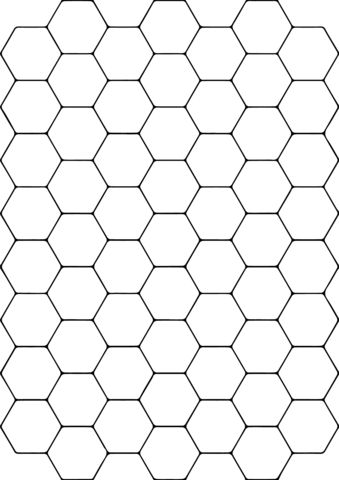 Tessellation with Hexagon coloring page from Tessellations category. Select from 26804 printable crafts of cartoons, nature, animals, Bible and many more.