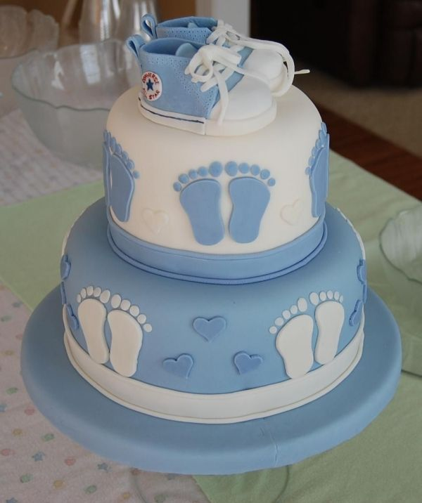 Cute baby boy cake, or pink if its a girl...super cute!!