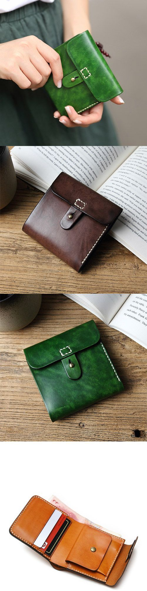 Handmade leather vintage women short wallet purse wallet - buy handbags online, women's bags and purses, leather ladies handbags *sponsored