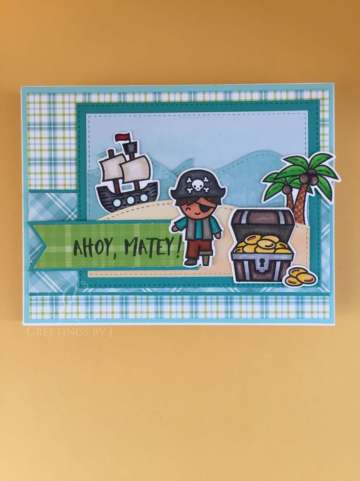 Lawn Fawn Ahoy, Matey; Ocean Hillside Pop-Up, Stitched Hillside Borders; Perfectly Plaid, Perfectly Plaid Rainbow, Watercolor Wishes paper packs; OWH sketch 218