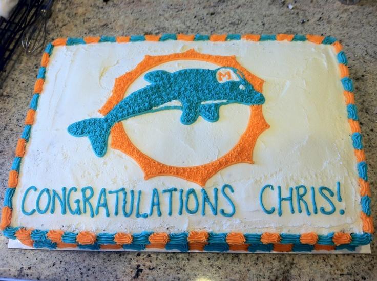 Miami Dolphin Cake Pan