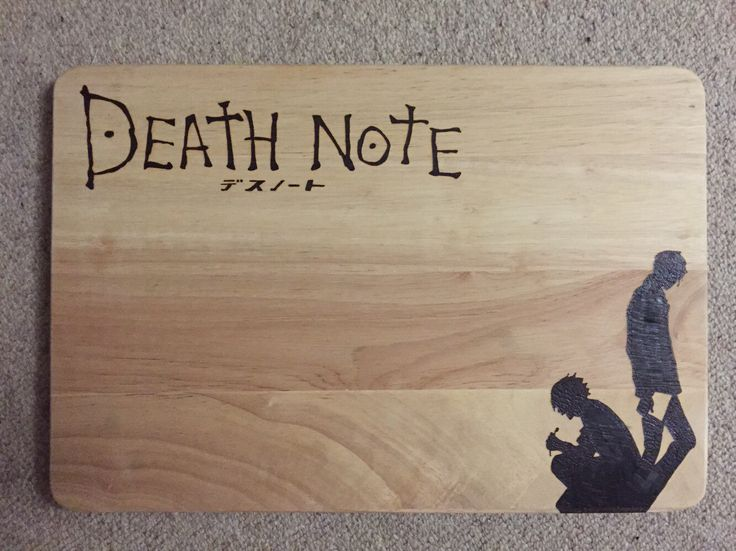 Large Hand Burned L and Light Silhouettes Death Note Pyrography Chopping Board by FrodoInWonderland on Etsy https://www.etsy.com/listing/239971309/large-hand-burned-l-and-light