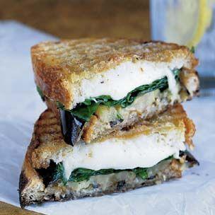Grilled Eggplant, Arugula and Mozzarella Panini *Attention panini ...
