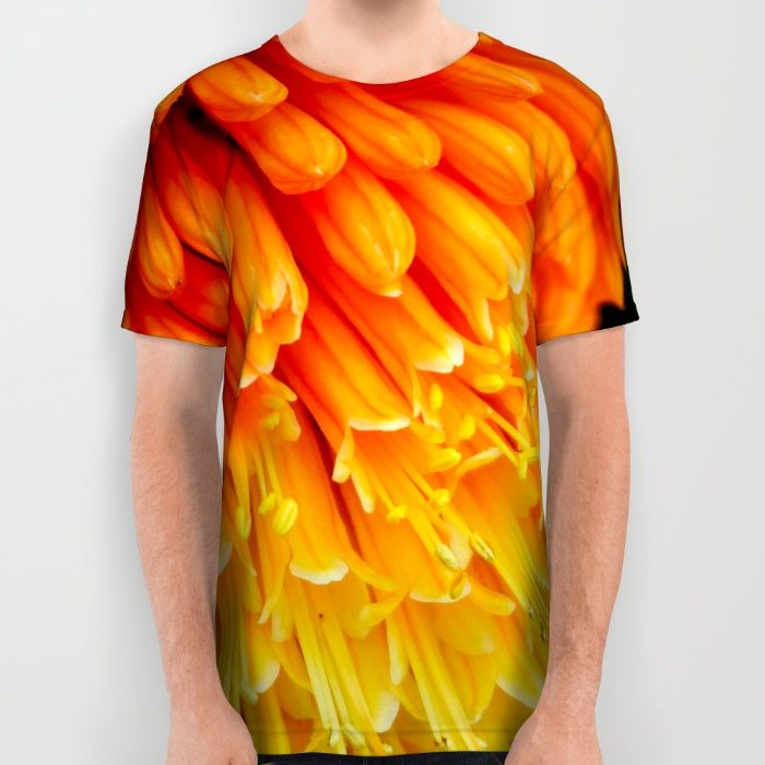 Kniphofia Rooperi All Over Print Shirt by Mixed Imagery | Society6