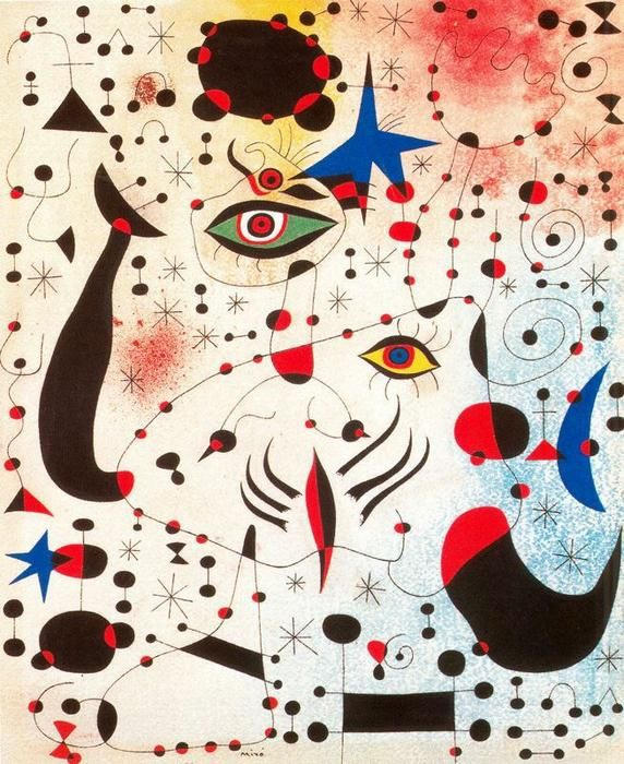 'Ciphers and Constellations, in Love with a Woman', Gouache by Joan Miro (1893-1983, Spain)
