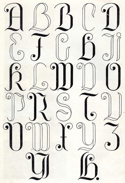 Embroidery monogram patterns from 1950 by Vakuoli, via Flickr
