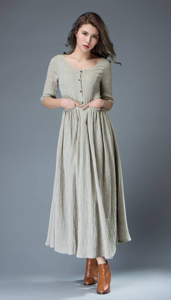 ce7e4ad626 Long linen dress Linen Dress womens dress summer linen
