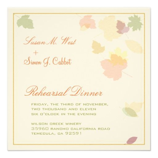 >>>Are you looking for          Fall Rehearsal Dinner Invitation - Falling Leaves           Fall Rehearsal Dinner Invitation - Falling Leaves We provide you all shopping site and all informations in our go to store link. You will see low prices onHow to          Fall Rehearsal Dinner Invita...Cleck link More >>> http://www.zazzle.com/fall_rehearsal_dinner_invitation_falling_leaves-161678597919709048?rf=238627982471231924&zbar=1&tc=terrest