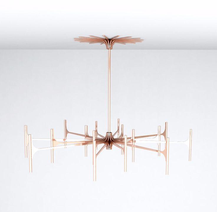 Les Chandelires Copper Suspension Lamp