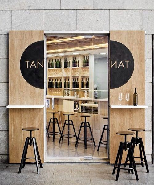 Plywood sliding doors - For more great ideas for your boutique hotel restaurant