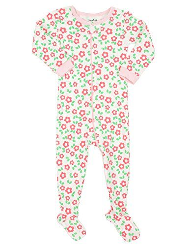 6b26080044c8 DinoDee Baby Girls Footed Pajamas Sleeper 100 Cotton Kids Pjs (6 ...
