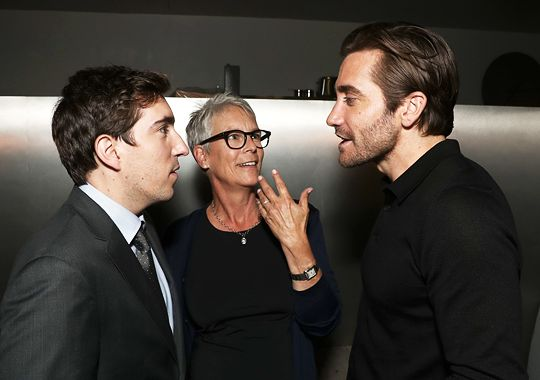 Jeff Bauman, Jamie Lee Curtis and Jake Gyllenhaal attend WME'S special Los Angeles screening of Lionsgate/Roadside Attractions' STRONGER, hosted by Los Angeles Mayor Eric Garcetti at the WME Screening...