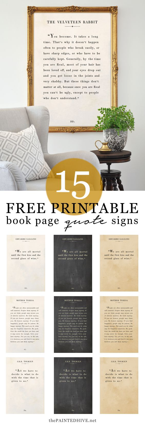 Amazing FREE farmhouse style quote art signs