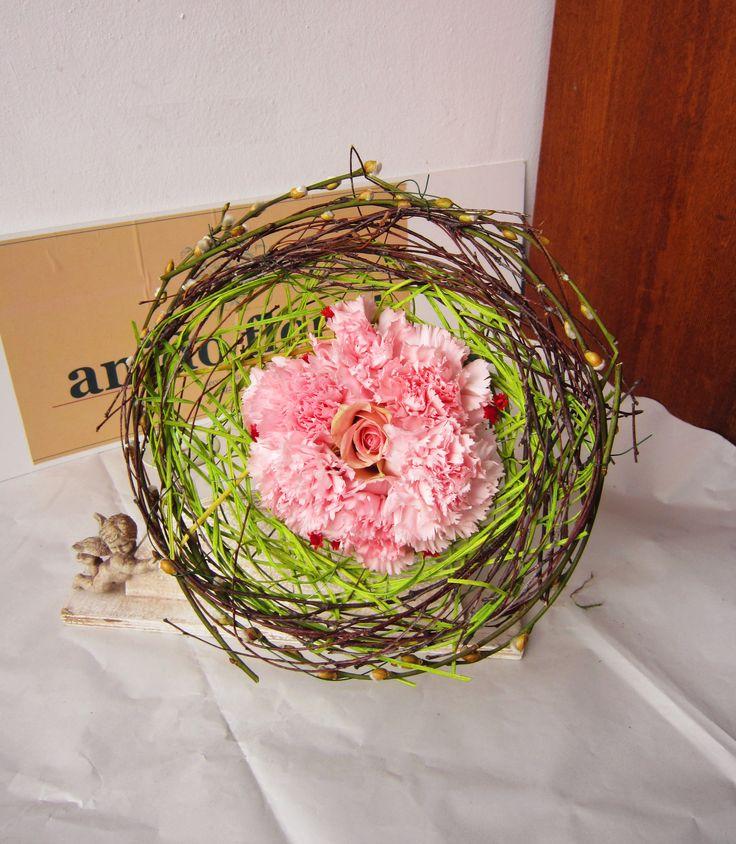 bird`s nest bouquet