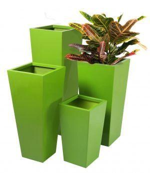 Gardening: Tall Flared Square Fibreglass Planter - Gel Coat L...